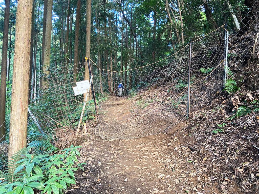 鹿避けのネット